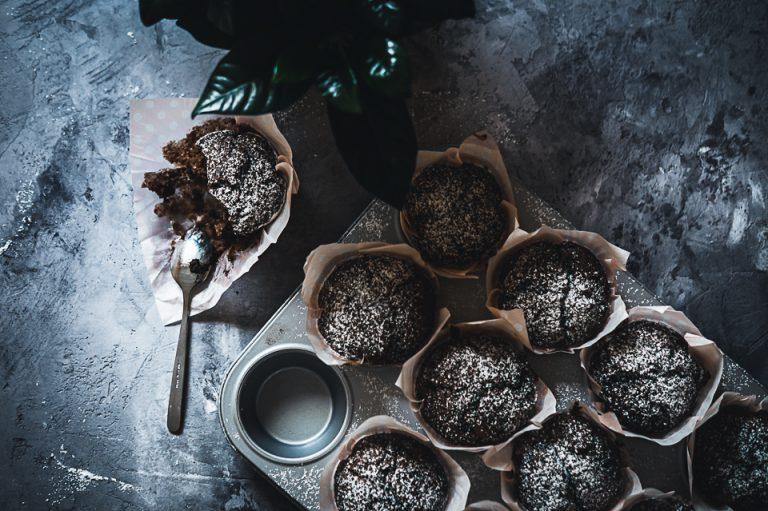 Schoko-Bananen-Kokos Muffins - Schwesternduett